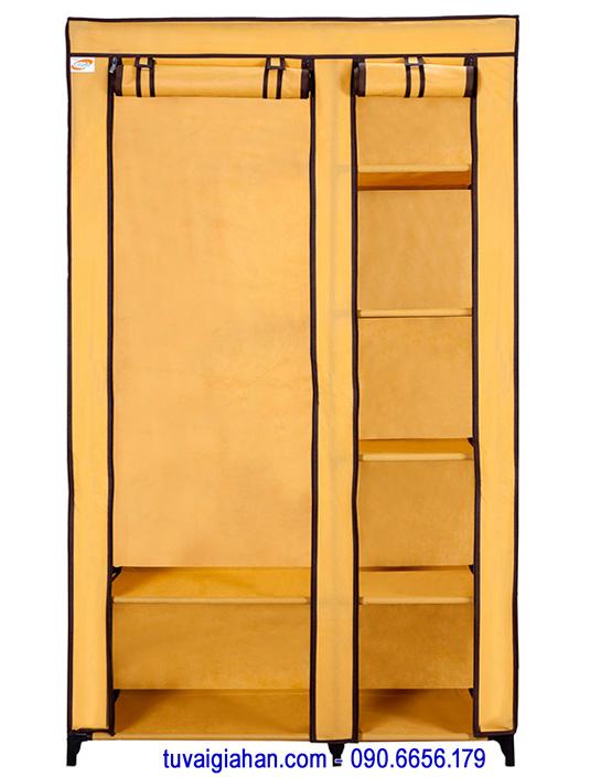 Tủ vải đựng quần áo TVAI01 màu vàng nghệ