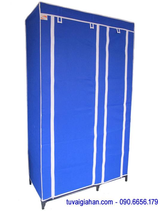 Tủ vải đựng quần áo TVAI01 màu xanh dương