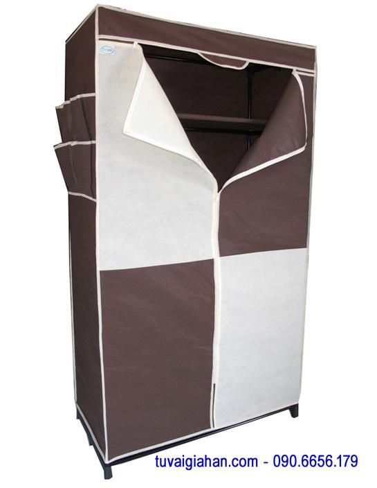 Tủ vải đựng quần áo TVAI02 màu nâu