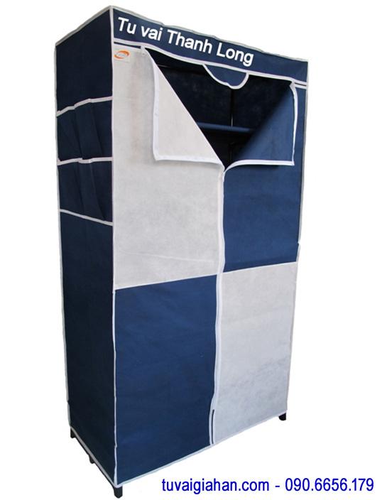 Tủ vải đựng quần áo TVAI02 màu xanh đen