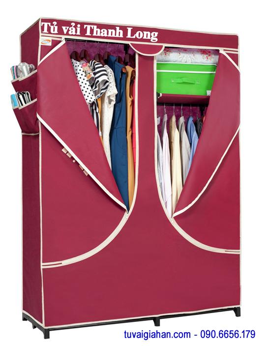 Tủ vải đựng quần áo TVAI03 màu đỏ