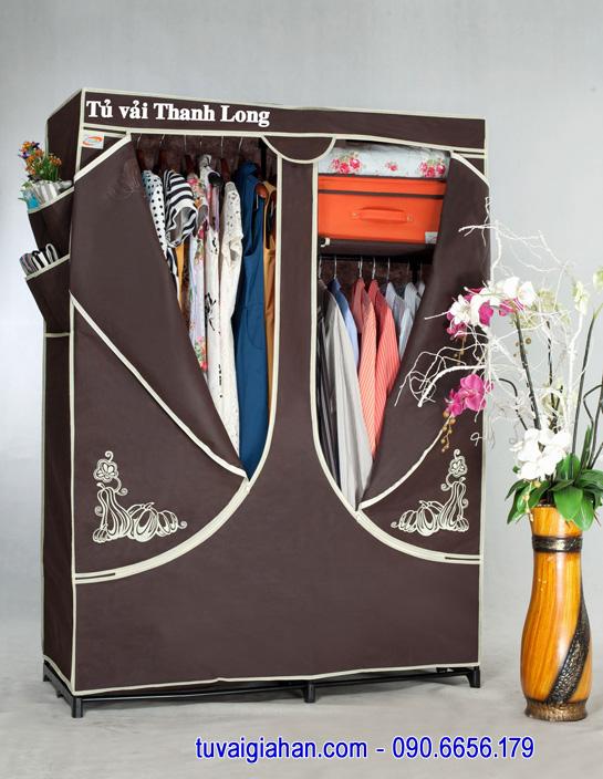 Tủ vải đựng quần áo TVAI03 màu nâu