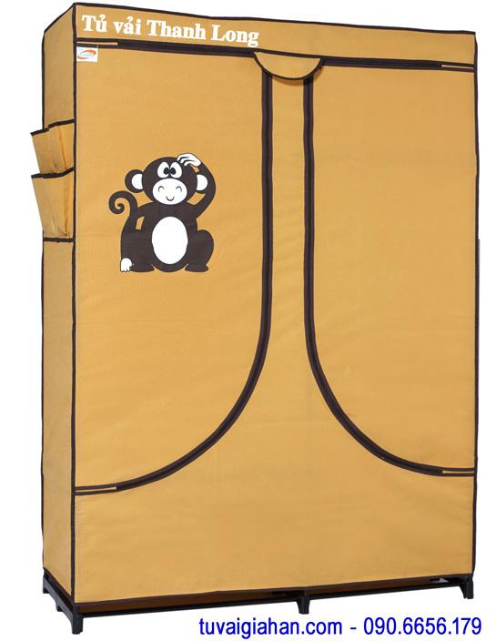 Tủ vải đựng quần áo TVAI03 màu vàng nghệ