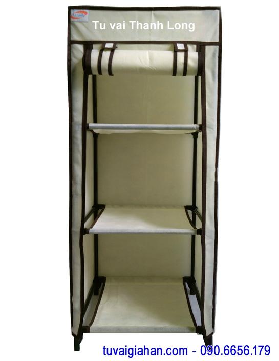 Tủ vải đựng quần áo TVAI04 màu vàng kem