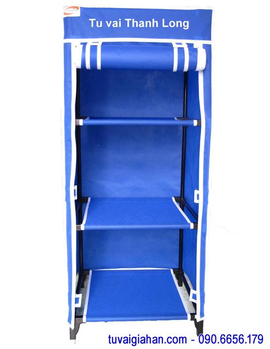 Tủ vải đựng quần áo TVAI04 màu xanh dương