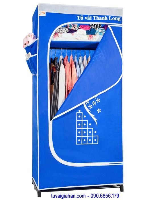 Tủ vải đựng quần áo TVAI06 màu xanh dương