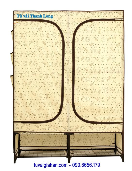Tủ vải đựng quần áo TVAI08 hoa văn mặt cười