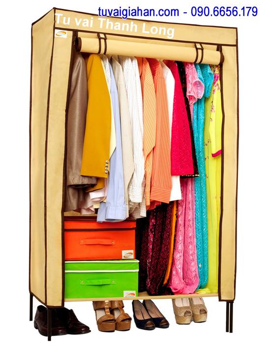 Tủ vải đựng quần áo TVAI10 màu vàng nghệ